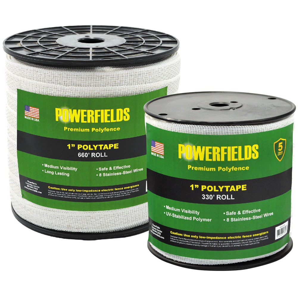 Powerfields 1 Inch Polytape 330 Feet