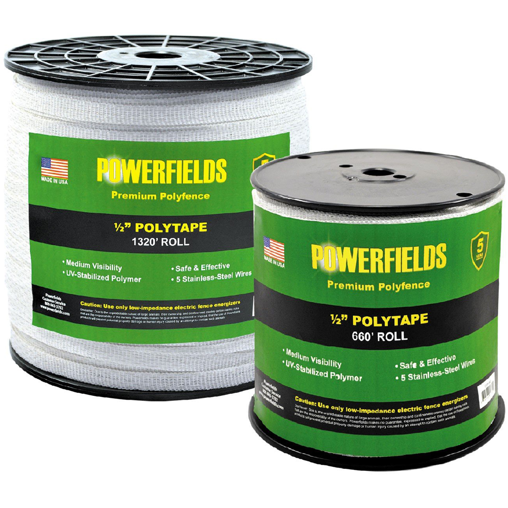 Powerfields 1/2 Inch Polytape 1320 Feet