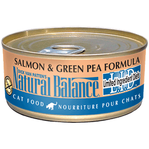 Natural Balance L.I.D. Salmon & Green Pea Cat Food 5.5oz