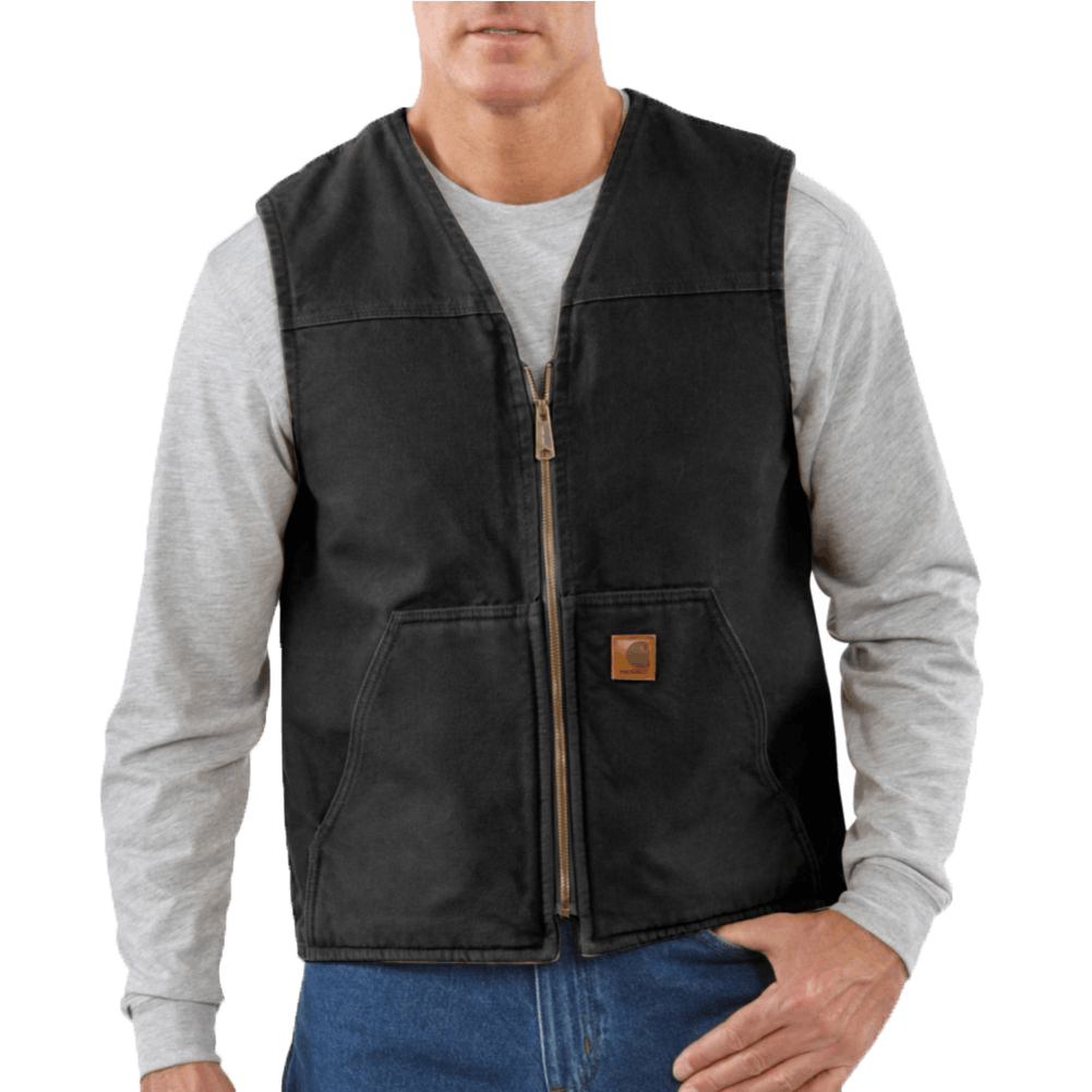 Small Regular Rugged Vest Black