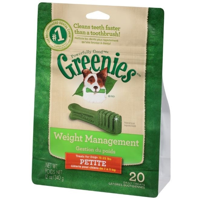 Greenies Petite Weight Management Dental Dog Chews 12-oz, 20 count