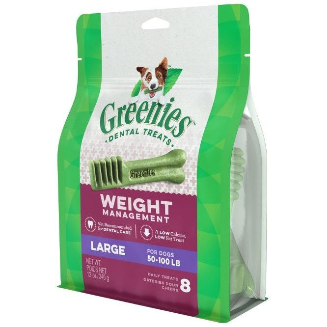 Greenies Large Weight Management Dental Dog Chews 12-oz, 8 count