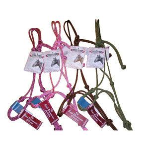 Double Diamond Rope Halter 5/16in Assorted Colors