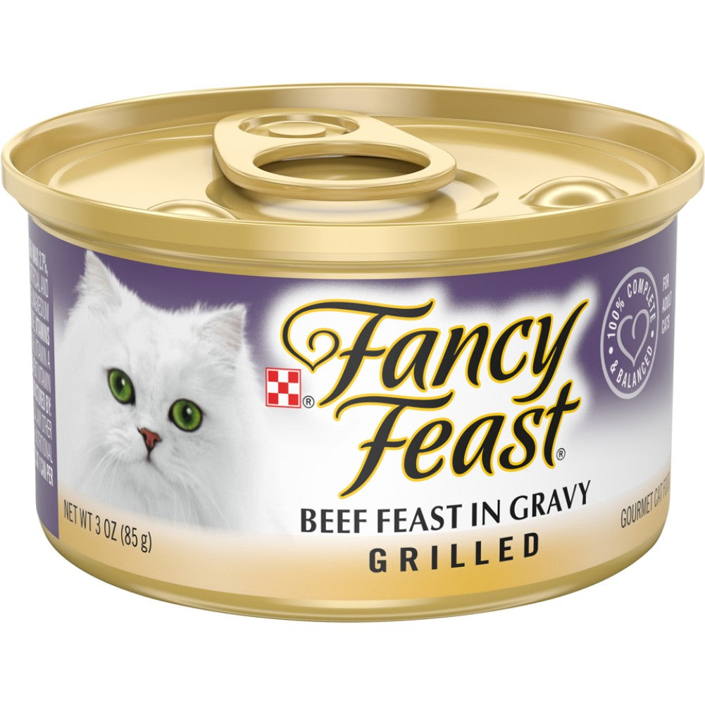 Fancy Feast 3oz Grilled Beef Gourmet Wet Cat Food In Gravy