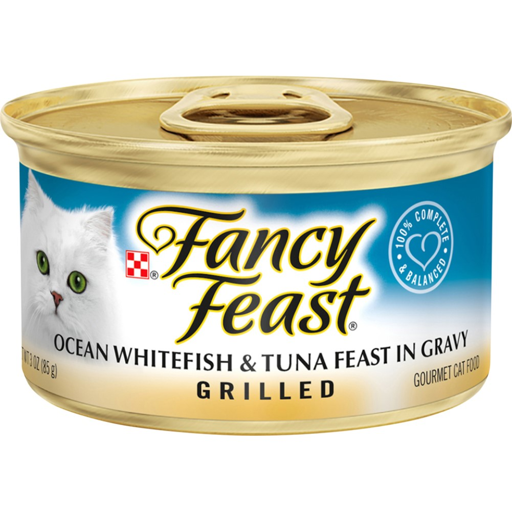 Fancy Feast 3oz Grilled Ocean Whitefish & Tuna Gourmet Wet Cat Food In Gravy