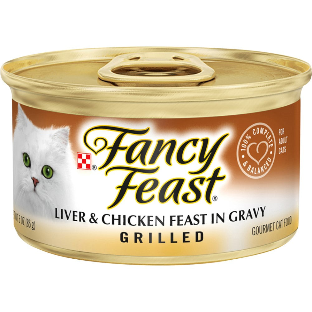 Fancy Feast 3oz Grilled Liver & Chicken Gourmet Wet Cat Food In Gravy