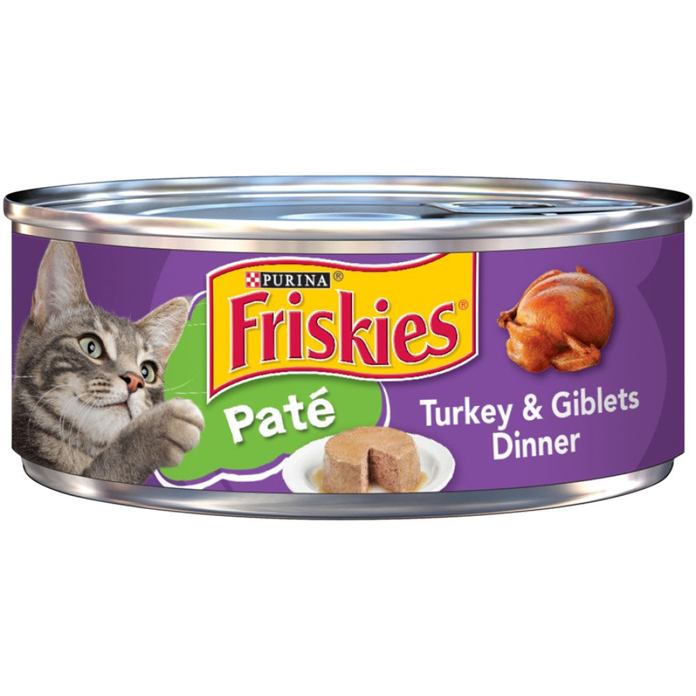 Friskies 5.5oz Pate Turkey & Giblets Dinner Wet Cat Food