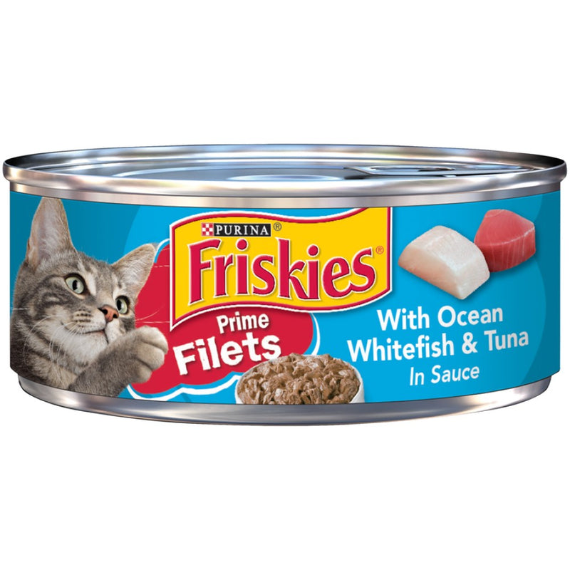 Friskies 5.5oz Prime Filets With Ocean Whitefish & Tuna in Sauce Wet Cat Food