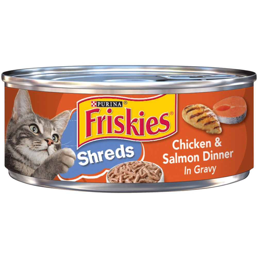 Friskies 5.5oz Shreds Chicken & Salmon Dinner In Gravy Adult Wet Cat Food