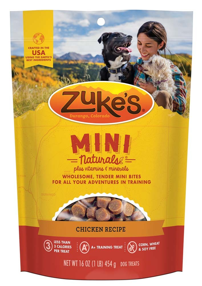 Zukes Mini Naturals Dog Treats Chicken 1lb