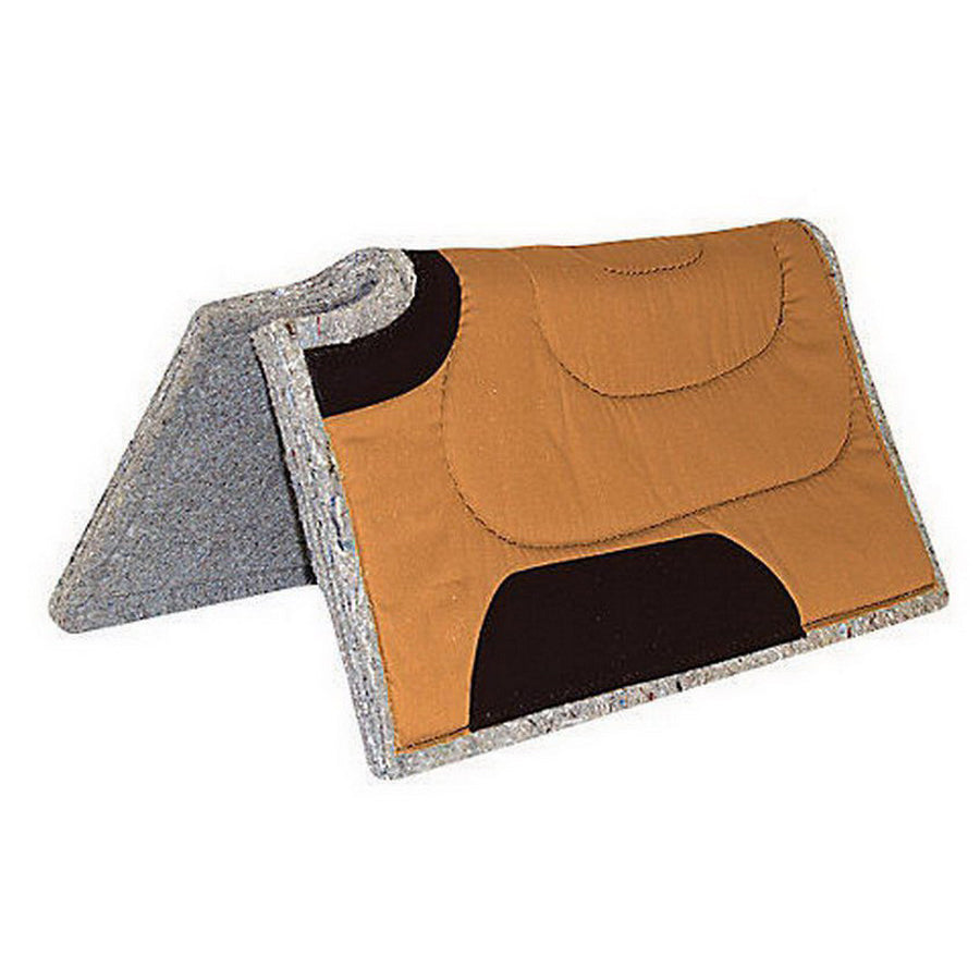 Mustang 30x30 Canvas Top and Felt Bottom Saddle Pad Brown