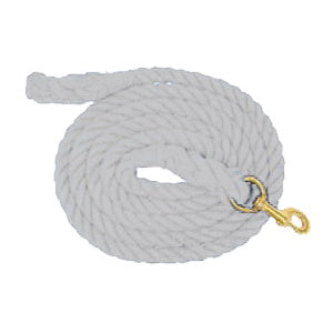 Aime Imports 10ft Cotton Lead with Bolt Snap White