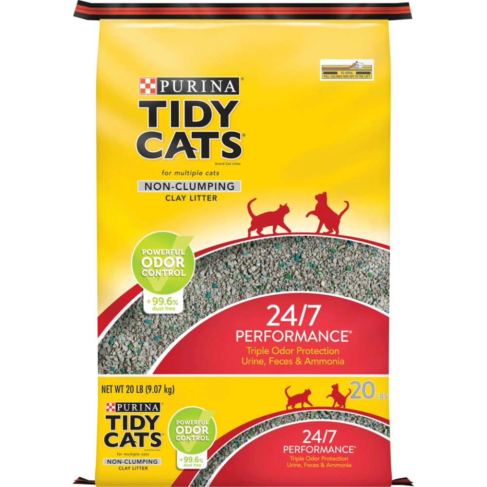 Tidy Cats Non-Clumping 24/7 Performance Cat Litter 20lb