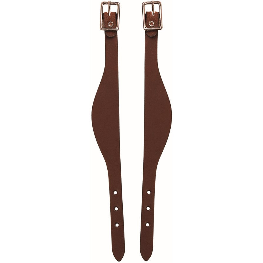 Bridle Leather Flared Fender Hobbles Mahogany