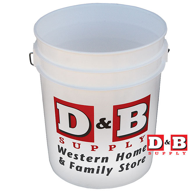 5gal D&b Paint Bucket White