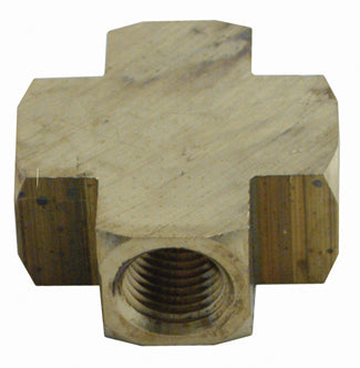 1/4in Npt Brass Cross