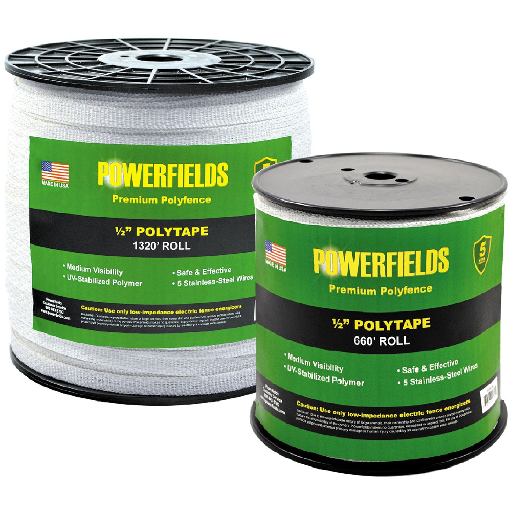 Powerfields 1/2 Inch Polytape 660 Feet