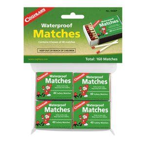 Waterproof Matches 4pk      12