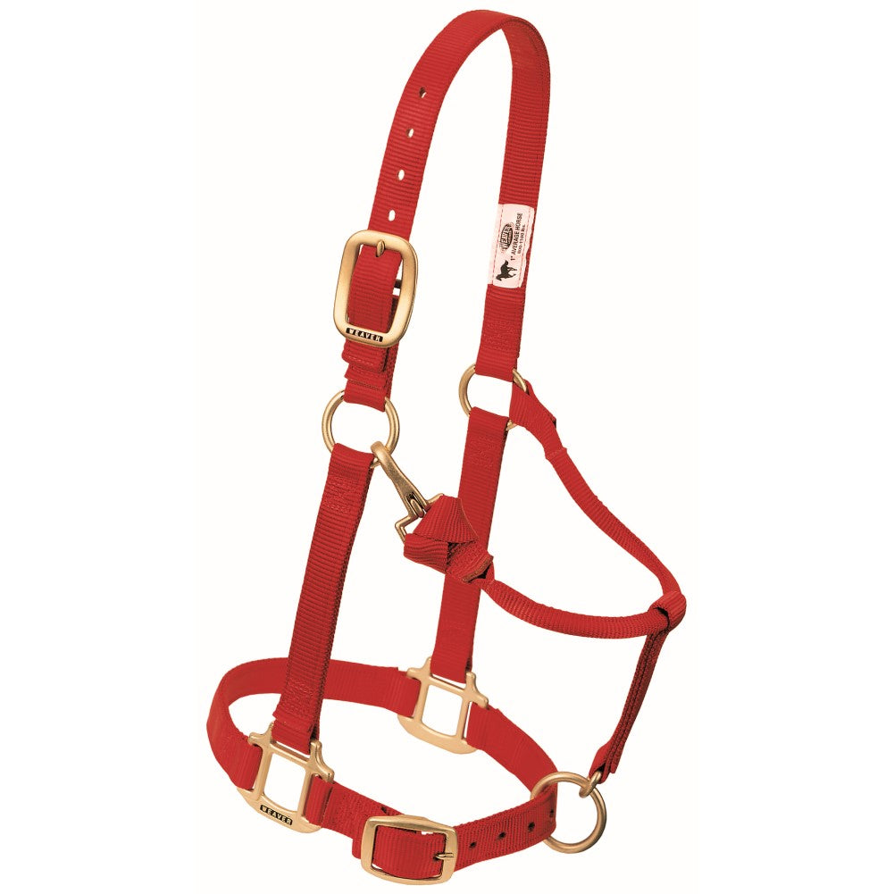 Original Adjustable Snap Halter Weanling/Pony Red