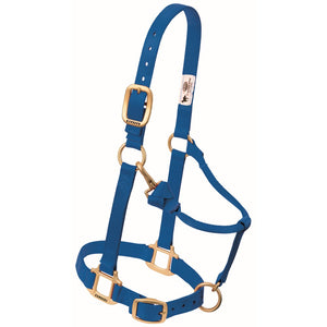Original Adjustable Snap Halter Weanling/Pony Blue
