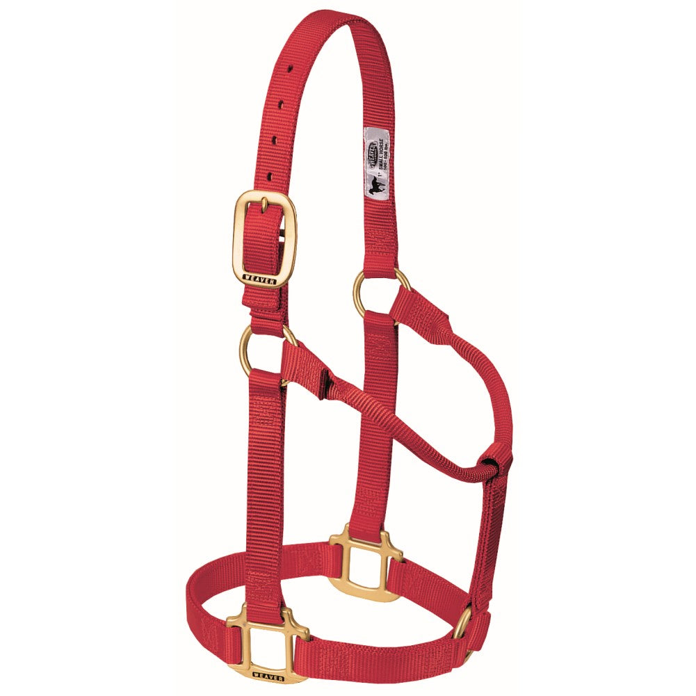 Original Non-Adjustable Halter Large Horse/Young Draft Red