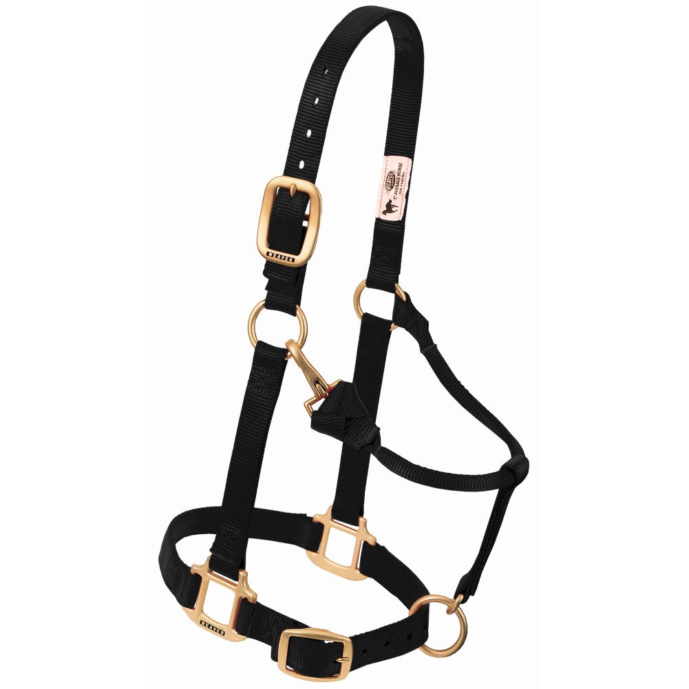 Original Adjustable Snap Halter Weanling/Pony Black
