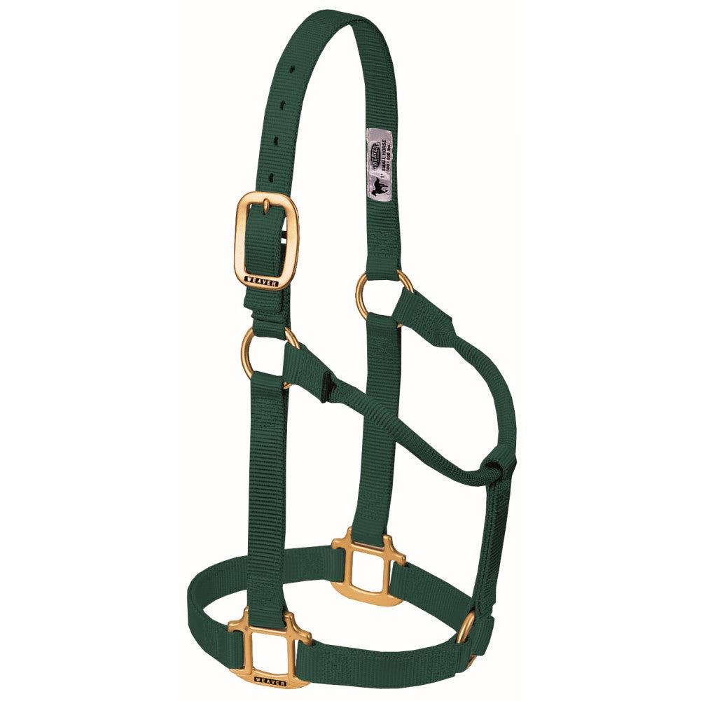 Original Non-Adjustable Halter Large Horse/Young Draft Hunter Green
