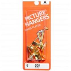20lb Picture Hanger Brass