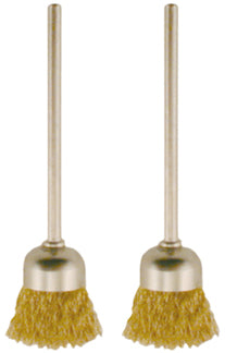 Brass Cup Brush 2pc Set