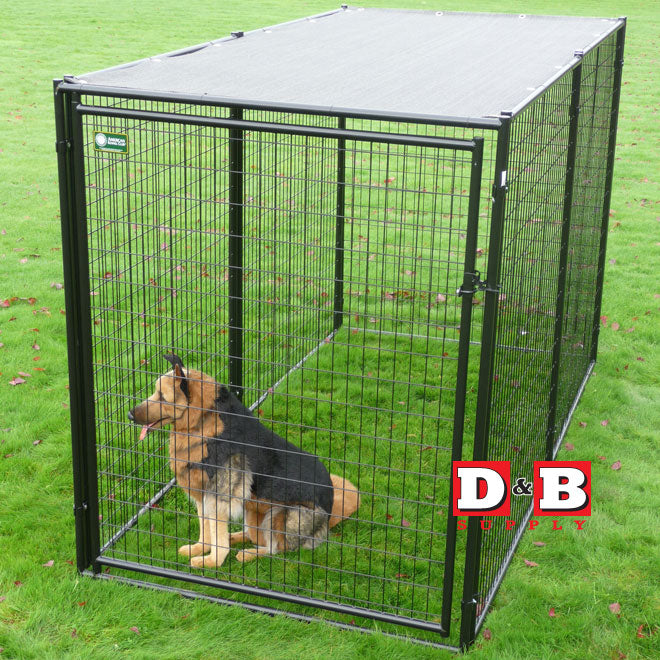 Lucky Dog Modular Kennel with Shade Cloth Roof 6x5x10