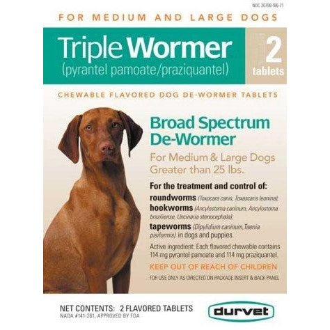Triple Wormer Medium/Large Dog 2ct