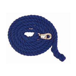 Aime Imports 10ft Cotton Lead Rope with Bull Snap Blue