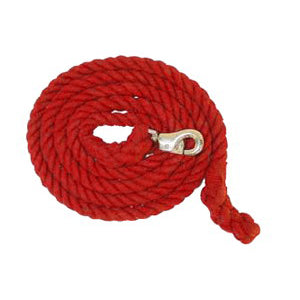 Aime Imports 10ft Cotton Lead Rope with Bull Snap Red