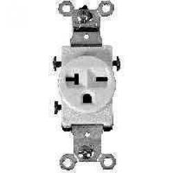 20a 3wire Gnd Wht Receptacle