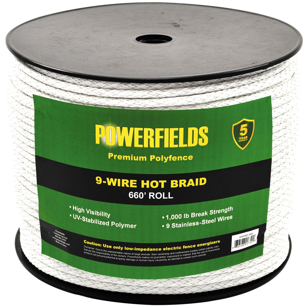 Powerfields 9-Wire Hot Braid Polywire