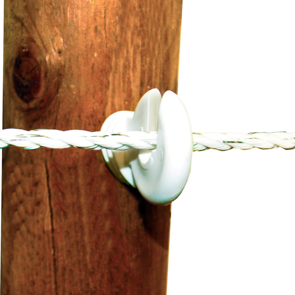 Wood Post Screw-In Insulator White