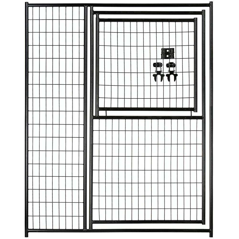 Lucky Dog Black Welded Wire Modular Gate in Gate 6x5