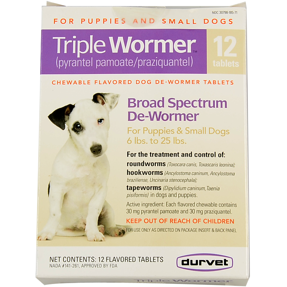 Triple Wormer Puppy/Small Dog 12 Count