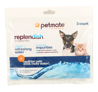 Petmate Replendish Charcoal Replacement Filters 3-Pack