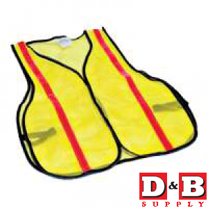 Hi Viz Lime Safety Vest Std  9