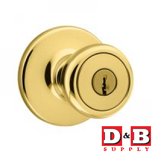 Tylo Entry Door Knob/lock Brss