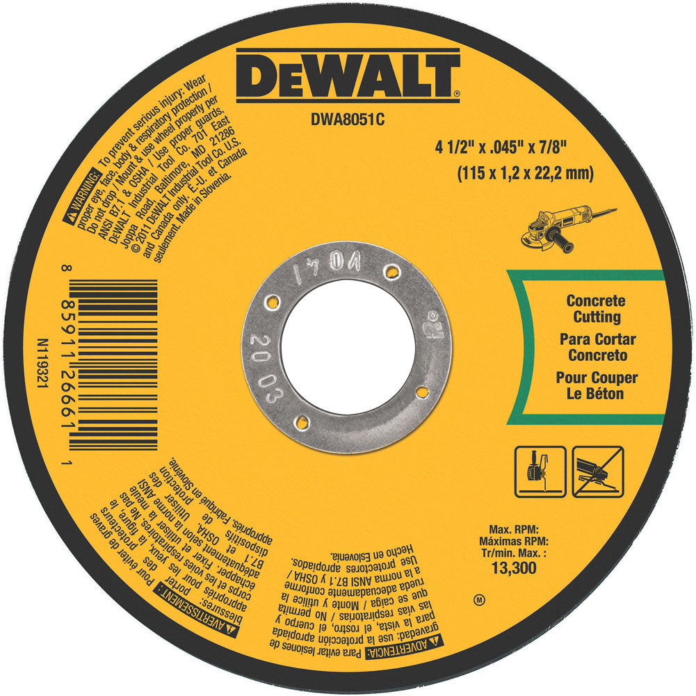 "4-1/2"" Masonry Cutting Wheel"