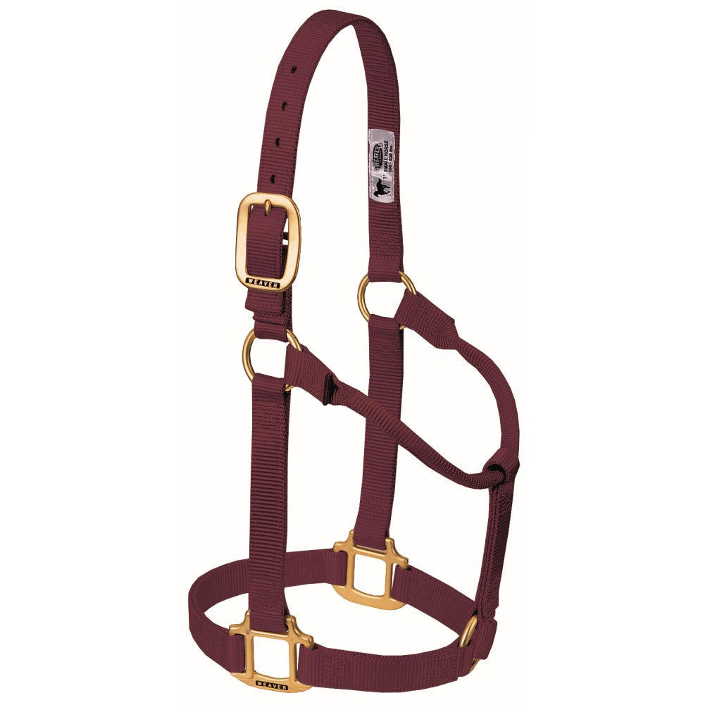 Original Non-Adjustable Halter Average Horse Burgundy