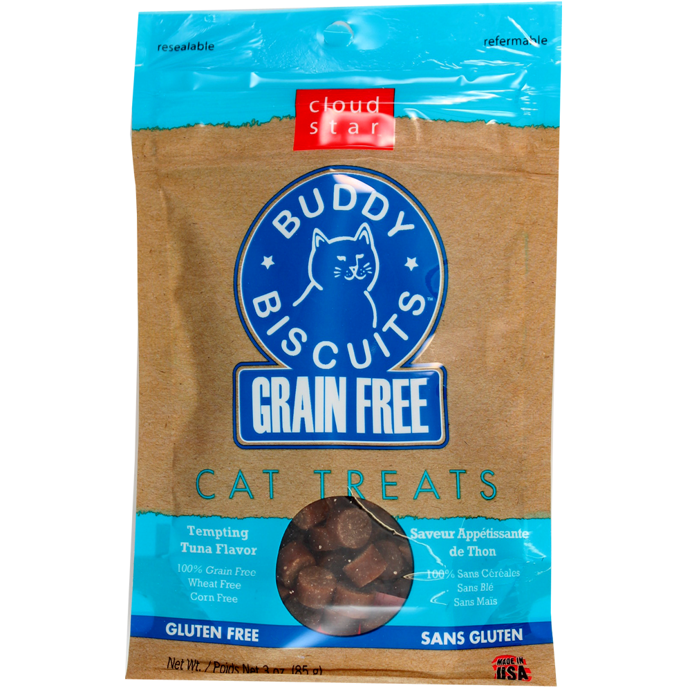 Cloud Star Buddy Biscuits Grain Free Tempting Tuna Cat Treats 3-oz