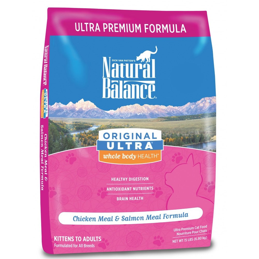 Natural Balance Original Ultra Whole Body Health Chicken Meal and Salmon Meal Dry Cat Food 6-lb