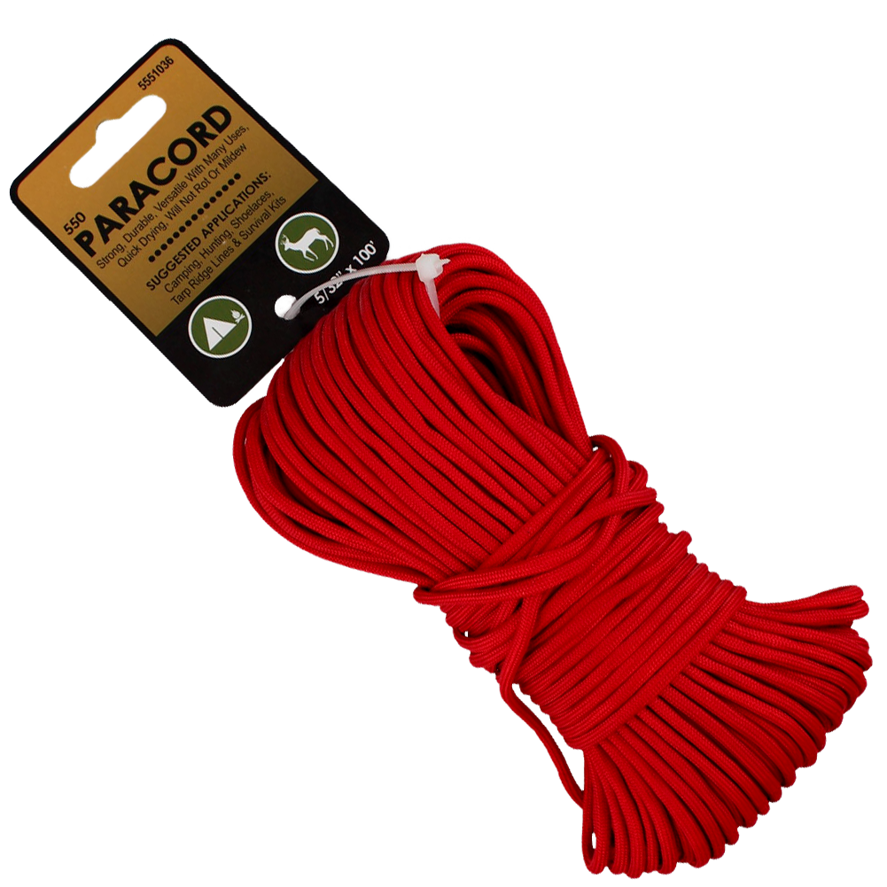 Paracord Nylon Red 5/32x100