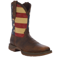 8D Mens Rebel Cowboy Boot Flag