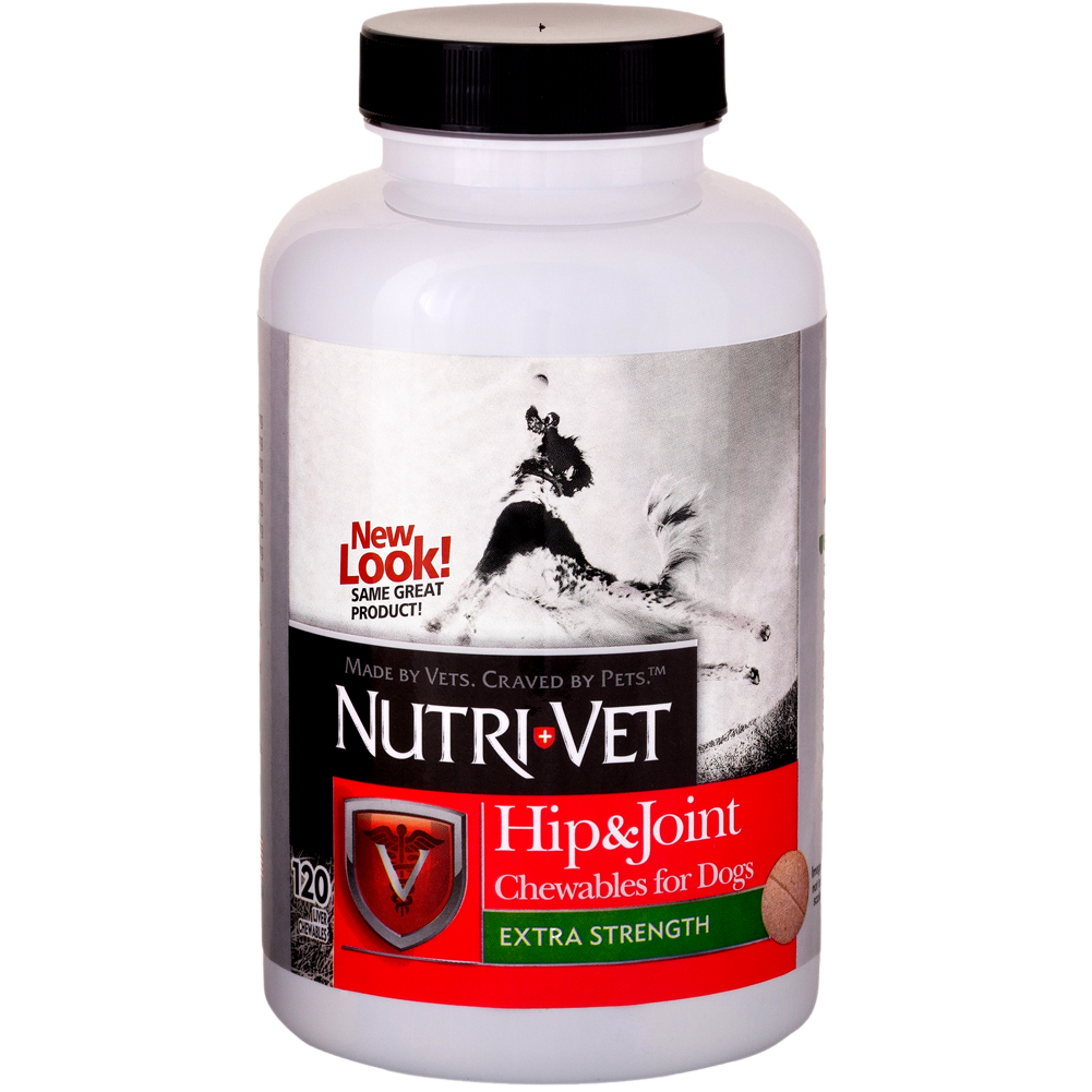 Nutri-Vet Hip and Joint Extra Strength Dog Chewables 120 count