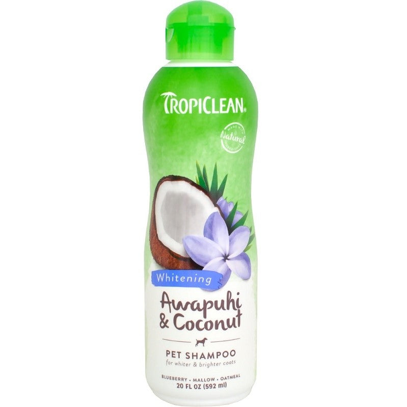 Tropiclean Awapuhi and Coconut White Coat Pet Shampoo 20 oz