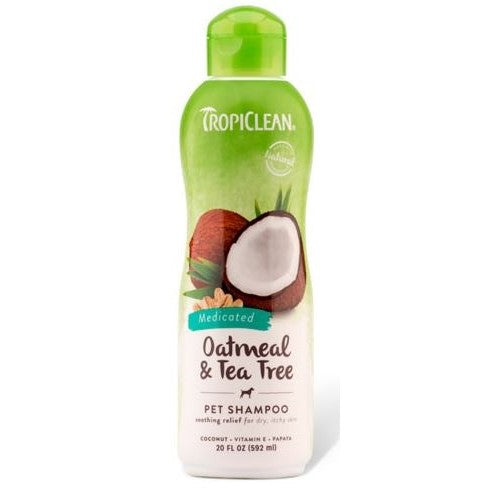 Tropiclean Oatmeal and Tea Tree Pet Shampoo 20 oz